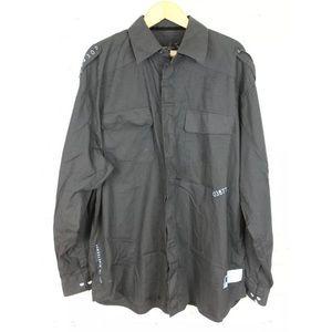 Rocawear Size 3X Black Shirt Button Up Long Sleeve